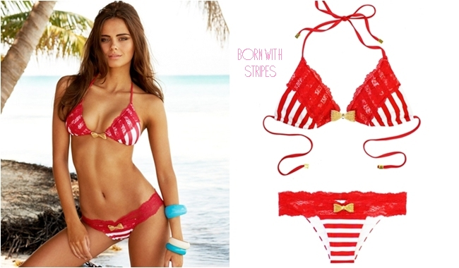 Beach Bunny born with stripes bikini