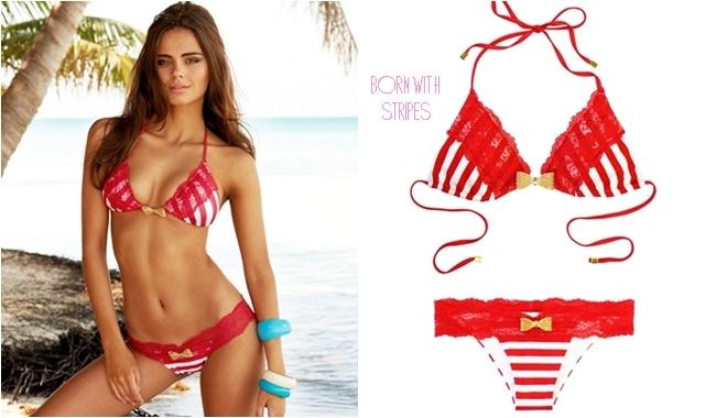 Beach Bunny born with stripes bikini