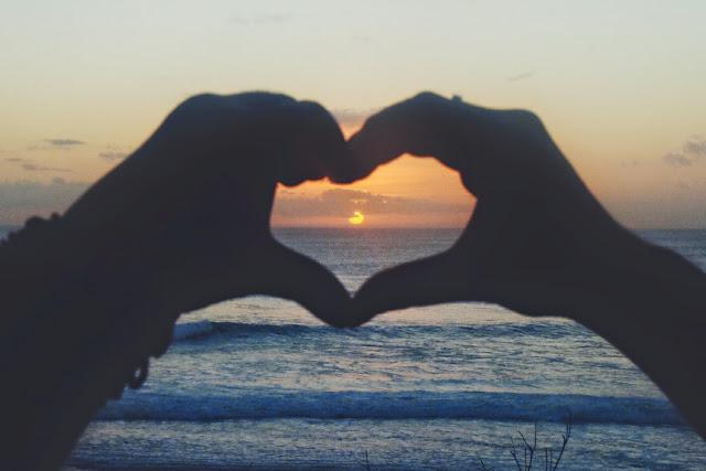 sunset in suluban beach
