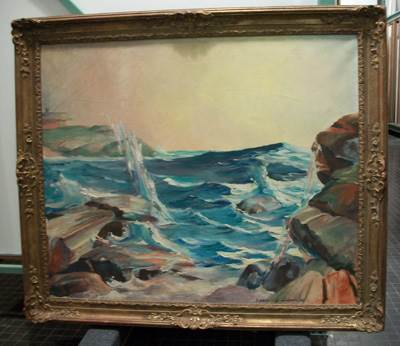 image of Biddle Pool Maine painted by Francis Quirk