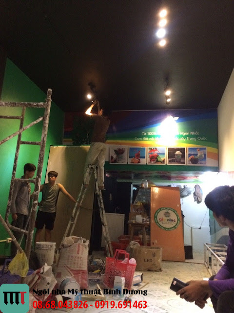 Lam den dien cho quan cafe o Trang Bom Dong Nai