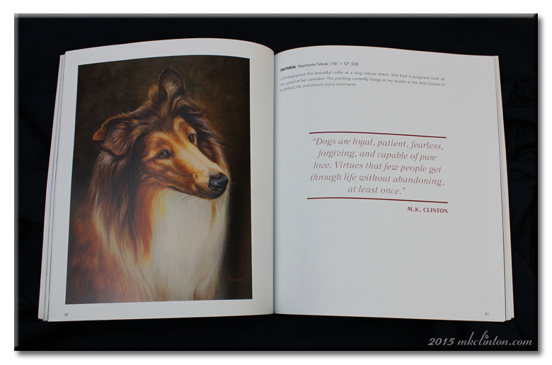 Dogs are loyal quote with painting of Collie