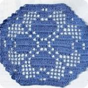 Flor en hexagono a punto de red
