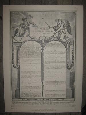 Panneau de la Déclaration des Droits de l'Homme et du Citoyen, dotation aux écoles, avant 1890 (collection musée)