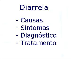 Diarreia causas sintomas diagnóstico tratamento prevenção riscos complicações