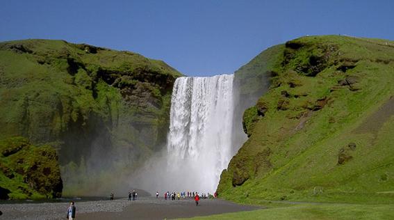 catarata skogafoss. Islandia