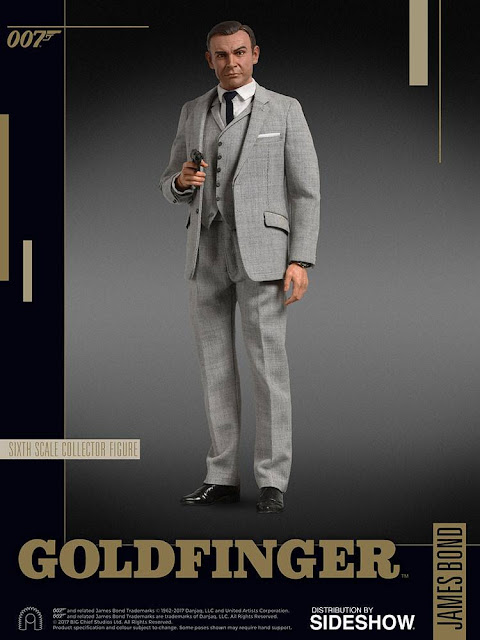 osw.zone Big Chief Studios preview 1 / 6. Scale Sean Connery as James Bond Figure by Goldfinger