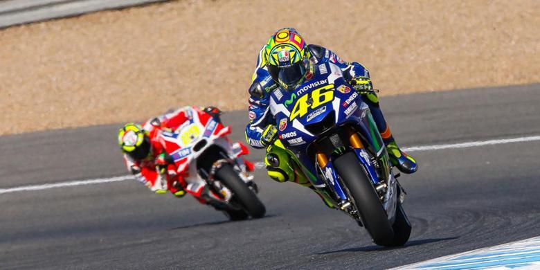 Super!! Ternyata Ini Cara Rossi Bikin KO 9 Rider Spanyol di MotoGP Jerez
