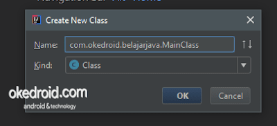 Create New Class IntelliJ IDEA