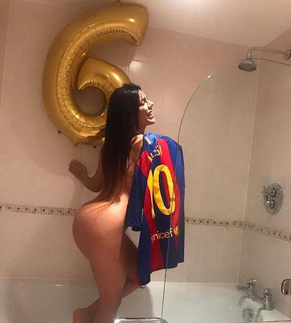 Suzy Cortez για το 6-1 της Barça (sexy pics)