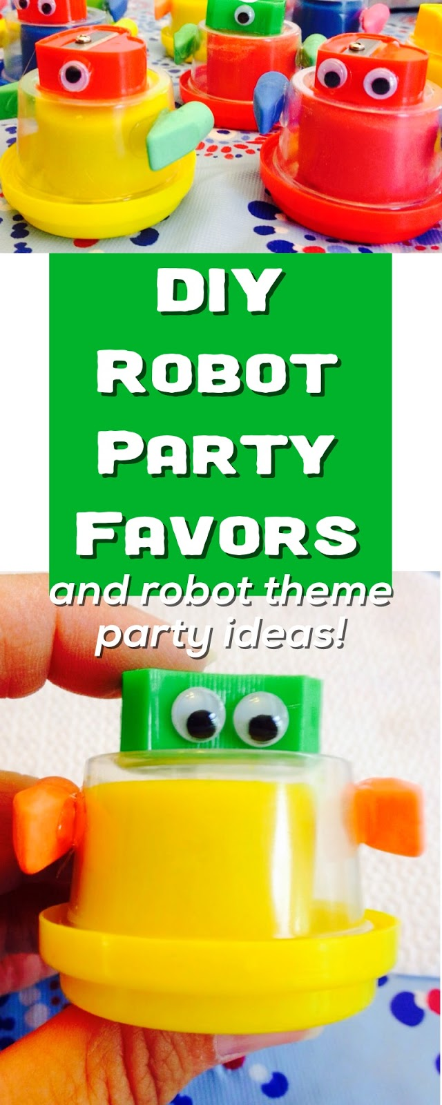 A Robot Birthday Party And Favors