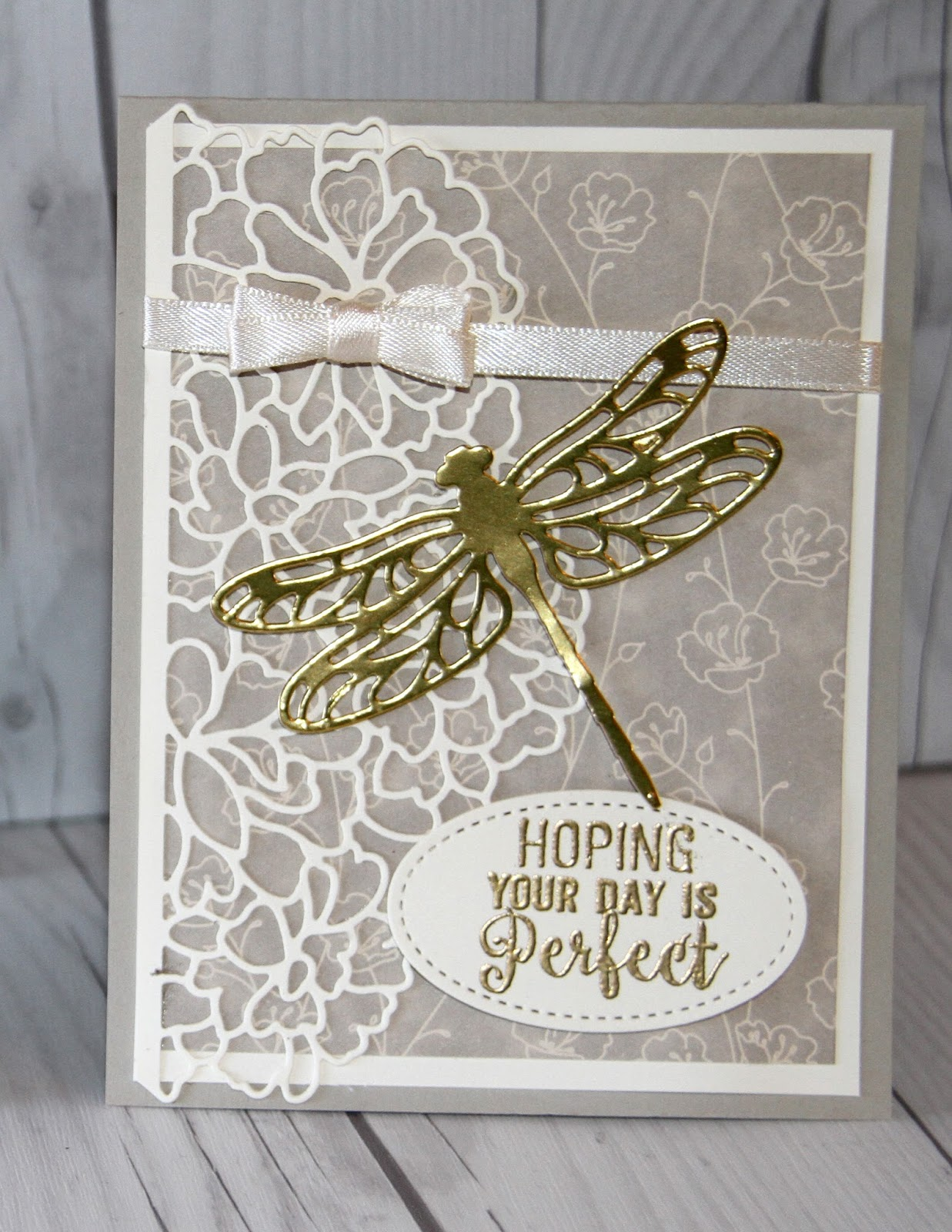 golden dragonfly dreams with stampin' up dies  stamped
