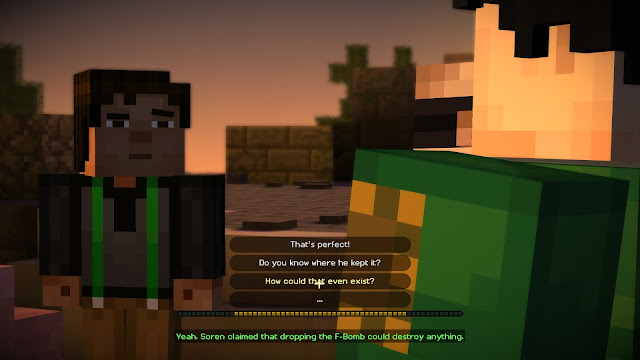 Screenshot from Minecraft: Story Mode