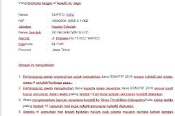 CONTOH SURAT PERTANGGUNG JAWABAN MUTLAK ( SPTJM) BSM/PIP