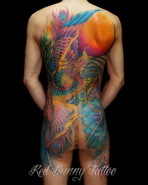 tattoo phoenix 鳳凰 タトゥー あかつき