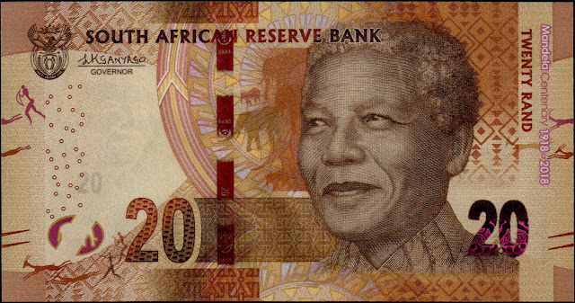 South Africa Currency 20 Rand Commemorative banknote 2018 Nelson Mandela Centenary
