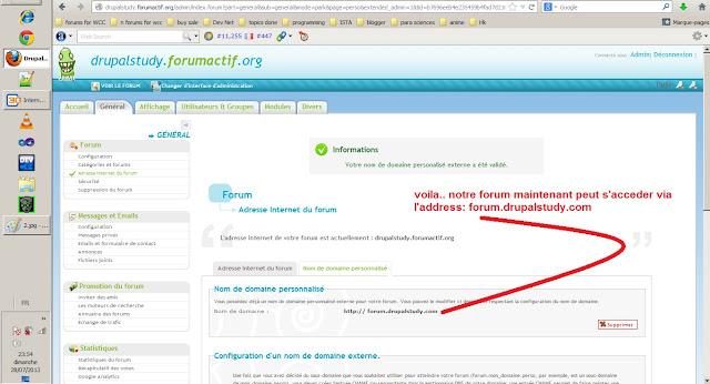 le resultat de lie le sous-domain par le forum gratuit