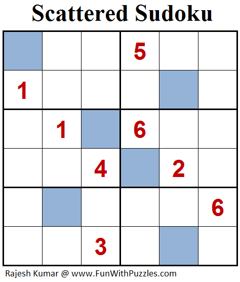 Scattered Sudoku (Mini Sudoku Series #90)
