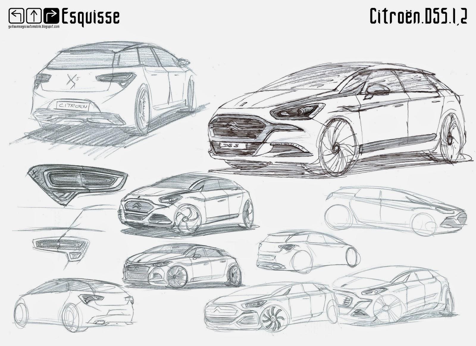 Guillaume AGEZ Automobile: Esquisse : Citroën DS5 I phase 2