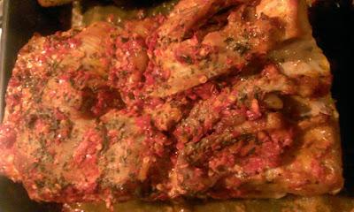 Boczek z płatkami chili