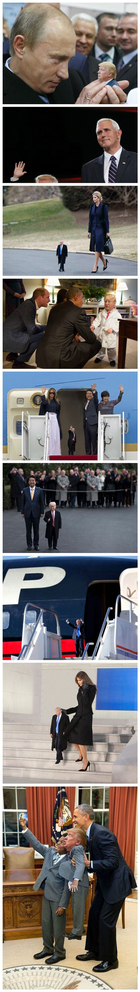 Funny Mini Tiny Trump Picture Strip Collection