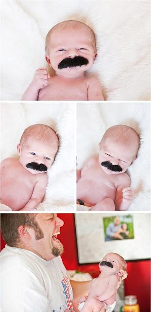 Foto de bebe con bigote