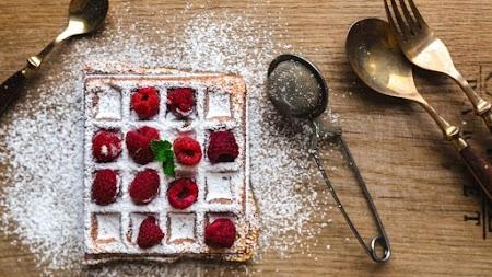 Raspberries Waffle