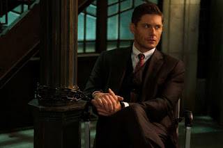 "Jensen Ackles as Dean Winchester/Michael in Supernatural 14x10 ""Nihilism"""