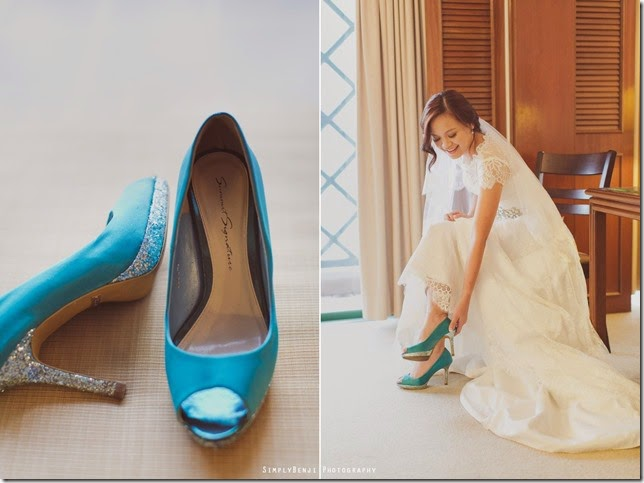 lovely bride wearing shoes