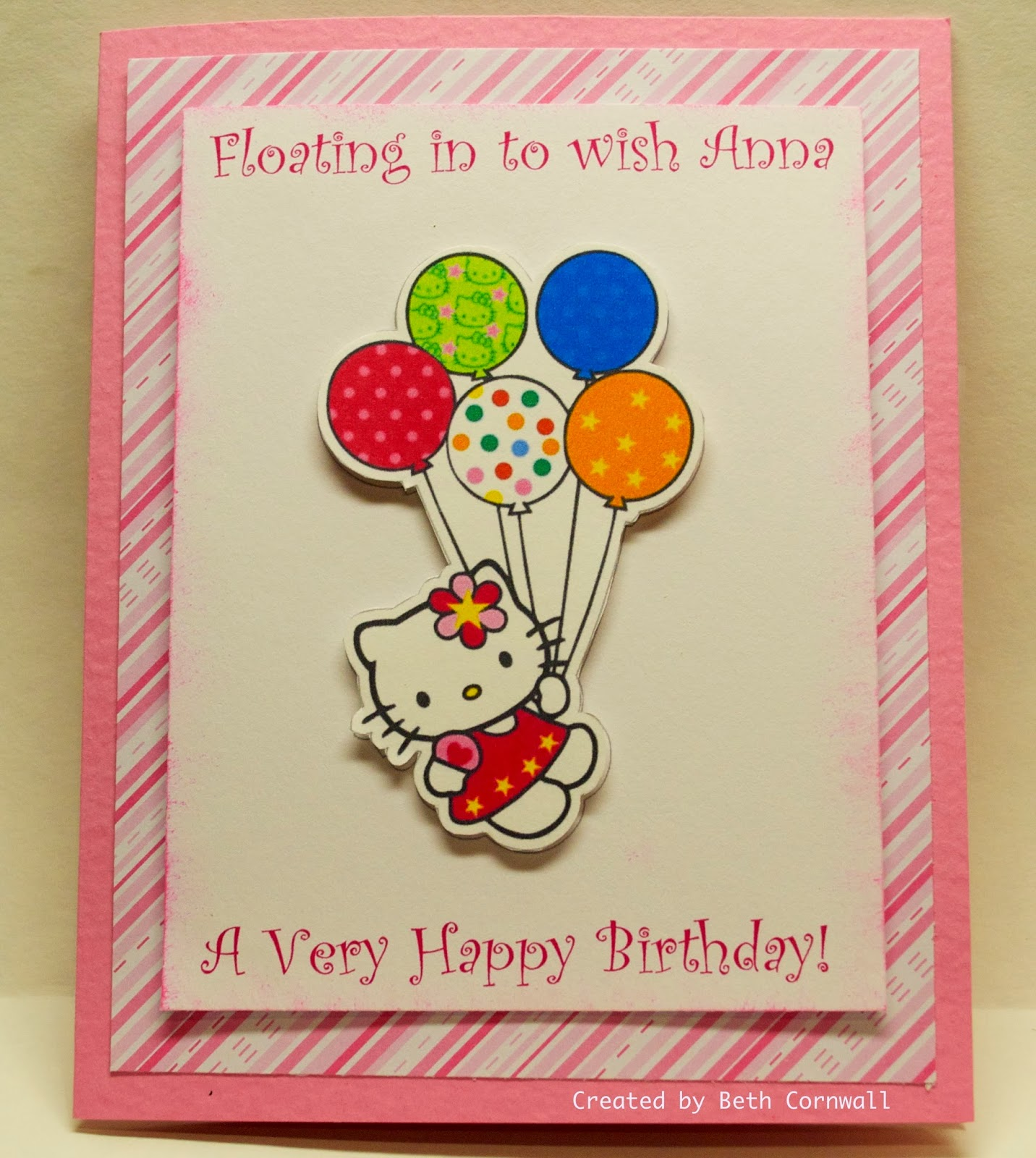 Creations From The Card Cave: Hello Kitty! Happy Birthday