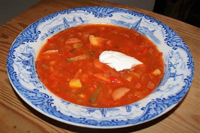 Soppa på charkuterivaror