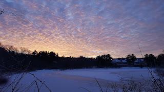 sunrise over Spruce Pond