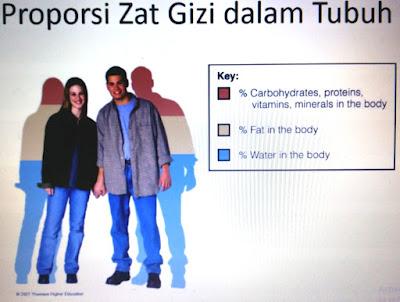 Komposisi Zat Gizi dalam tubuh mempengaruhi proporsionalitas