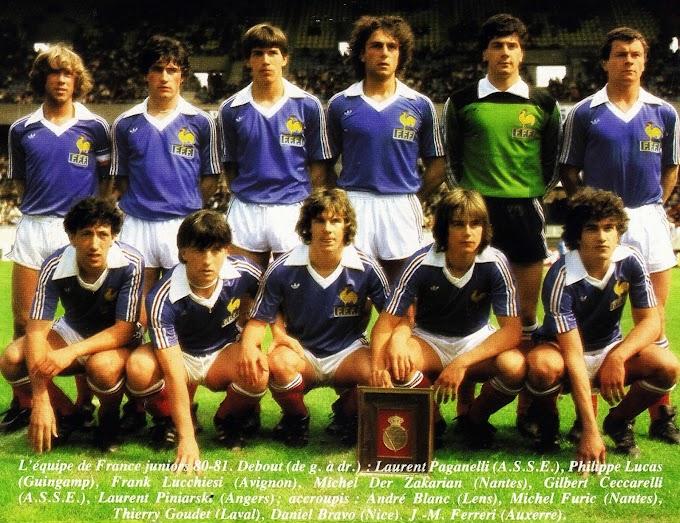 EQUIPE DE FRANCE (Juniors) 1980-81.