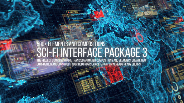 Preview%2BImage VIDEOHIVE SCI-FI INTERFACE HUD PACKAGE 3 After Effects download