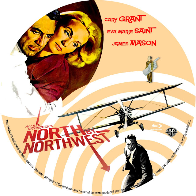 North by Northwest (1959) Bluray Label