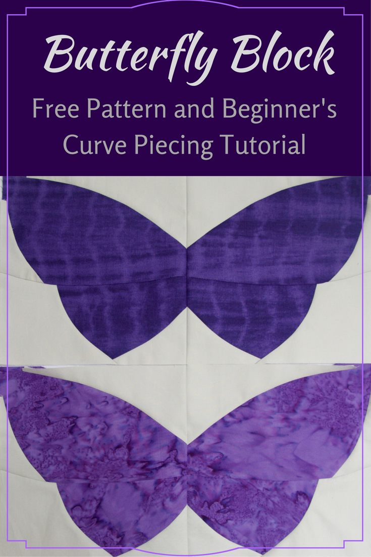 quilt art by olena pugachova curve pieced butterfly block free