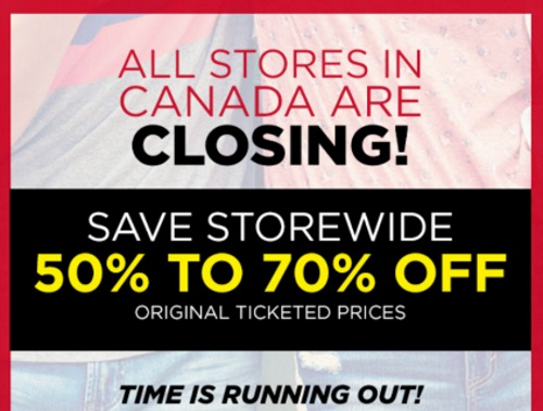 Aeropostale Closing All Stores Save 50-70% Off Clearance Sale