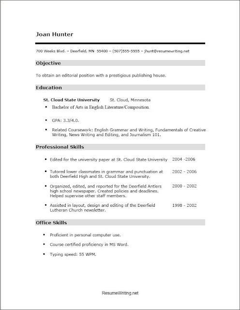 speech language pathology graduate school resume