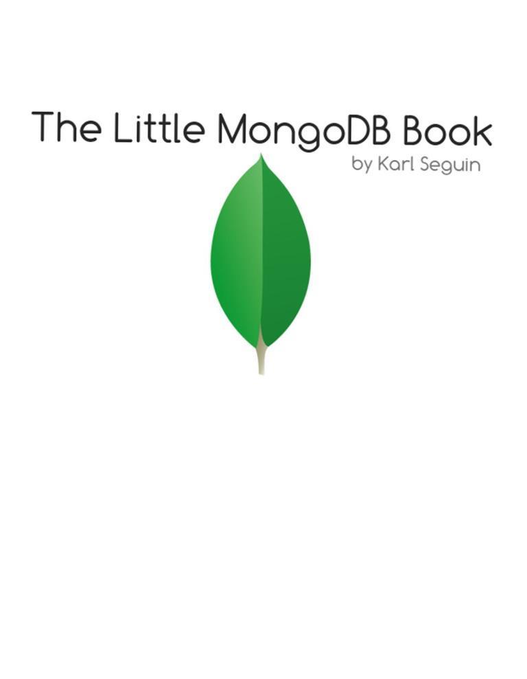 The Little MongoDB Book – Karl Seguin