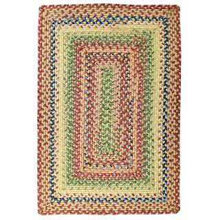 Polypropylene braided rug in rectangle shape