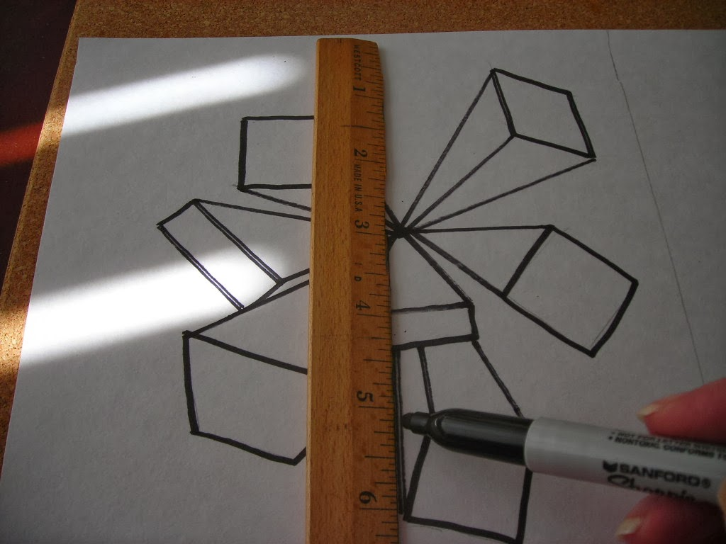 Fine Lines One Point Perspective And Quadrilaterals
