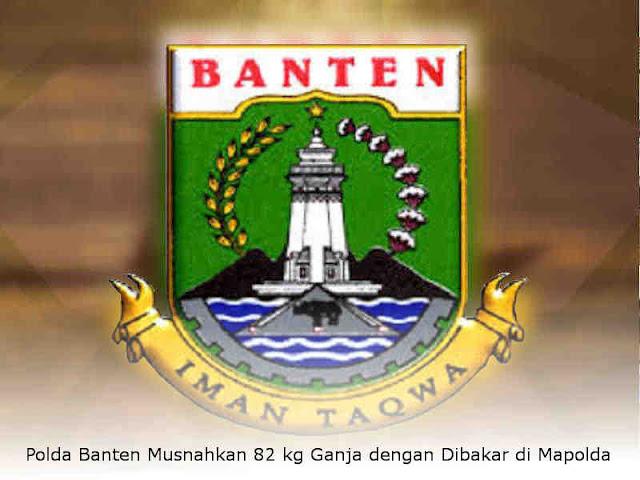 Polda Banten Musnahkan 82 kg Ganja dengan Dibakar di Mapolda