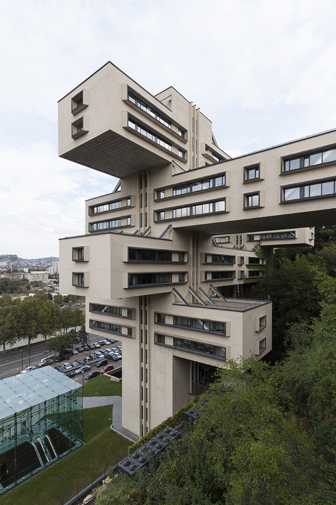George Chakhava and Zurab Jalaghania: Ministry of Highways Building, Tbilisi