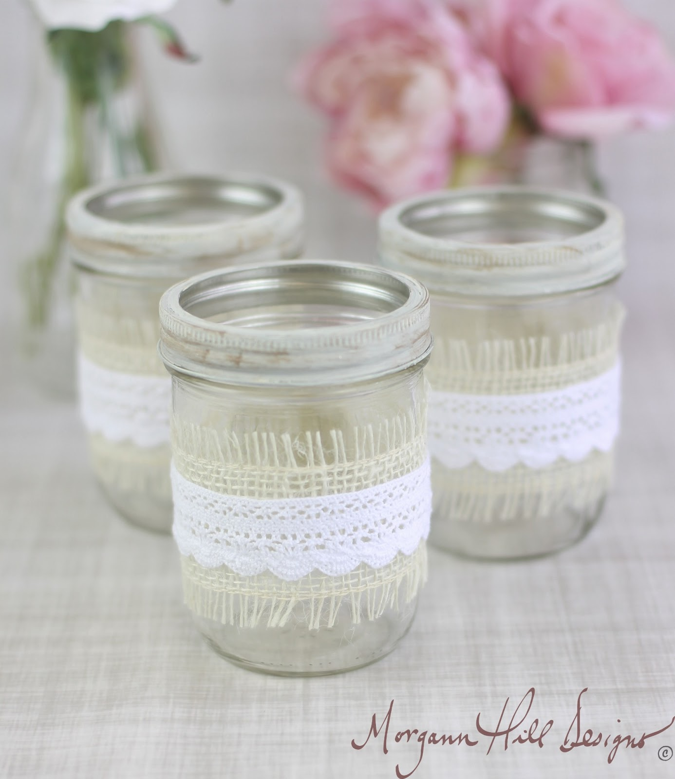 Vintage Wedding Ideas Mason Jars: Morgann Hill Designs: Mason Jar Wedding Centerpieces Vases