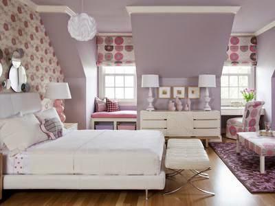 pastel purple bedroom