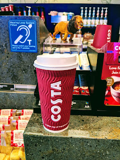 My totally free Birthday Costa Hot Chocolate