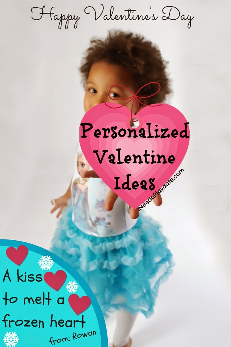 #Frozen Inspired Personalized Valentine Ideas