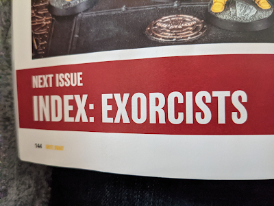 Index: Exorcists Coming Next Month