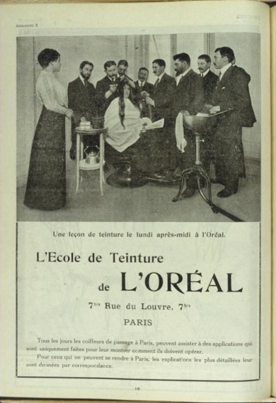 L'Oréal ad 1910